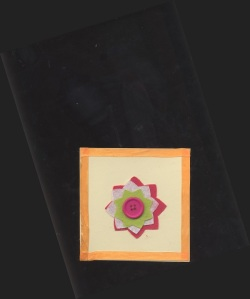 Card with Felt Flower